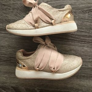 Toddler Girl Cynthia Rowley Rose Gold Sneakers 9